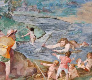 la leggenda di Ercole che crea il lago di Vico